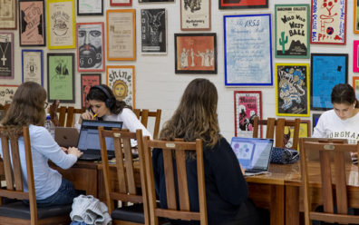 Burgmann College students studying
